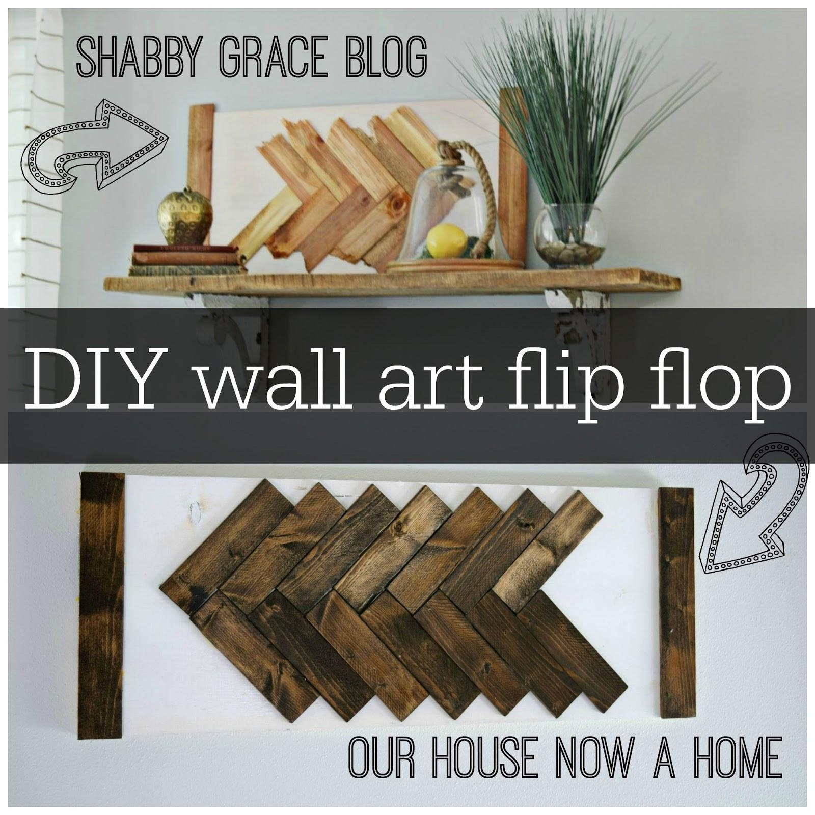 Diy Wall Art Flip Flop • Our House Now A Home Intended For Flip Flop Wall Art (View 12 of 20)