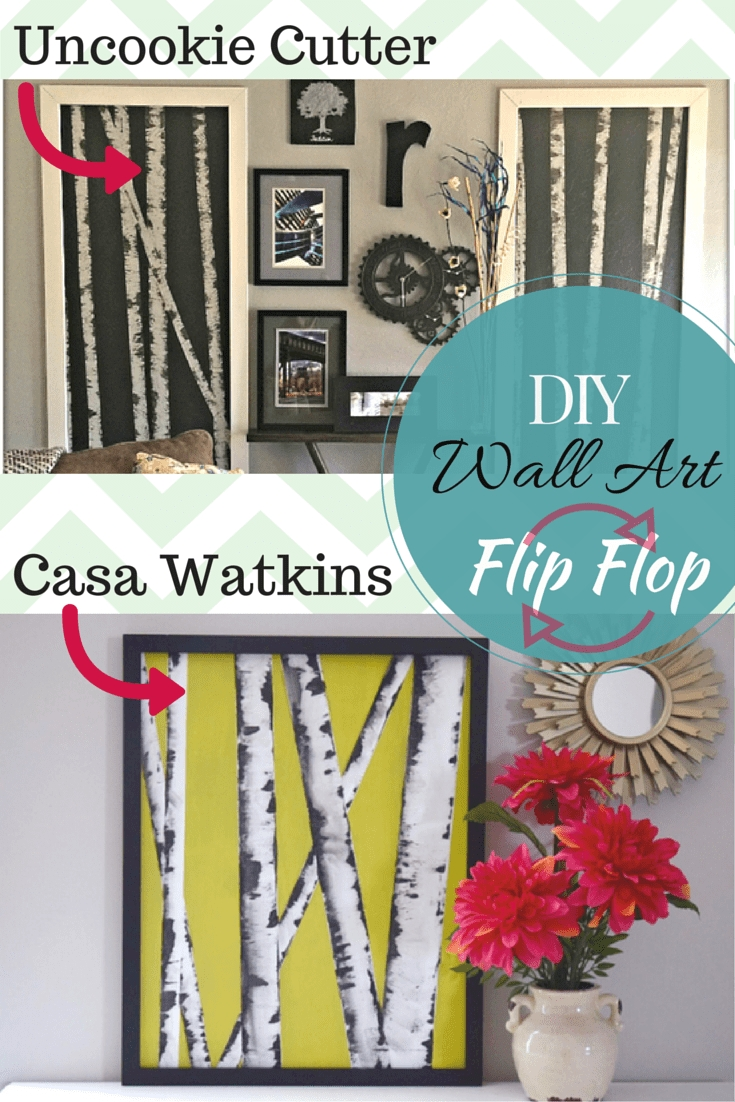 Diy Wall Art Hop Flip Flop: Birch Tree Art – Casa Watkins Living Inside Flip Flop Wall Art (Image 9 of 20)