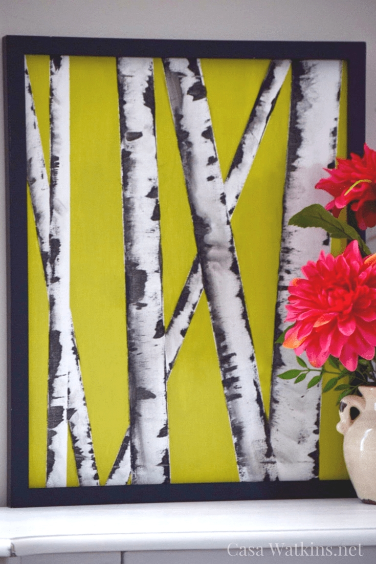Diy Wall Art Hop Flip Flop: Birch Tree Art – Casa Watkins Living With Regard To Flip Flop Wall Art (View 11 of 20)