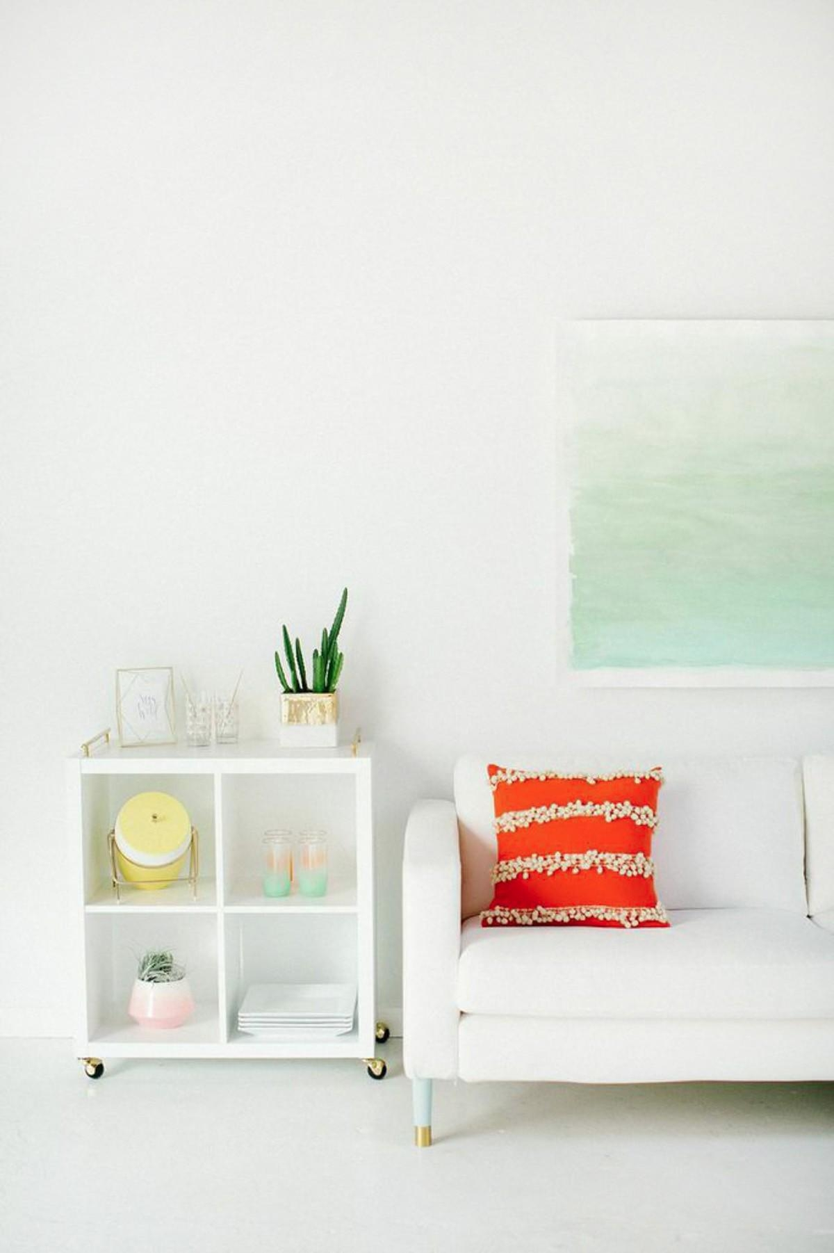 Diy Watercolor Wall Art | Sugar & Cloth Regarding Diy Watercolor Wall Art (Image 9 of 20)
