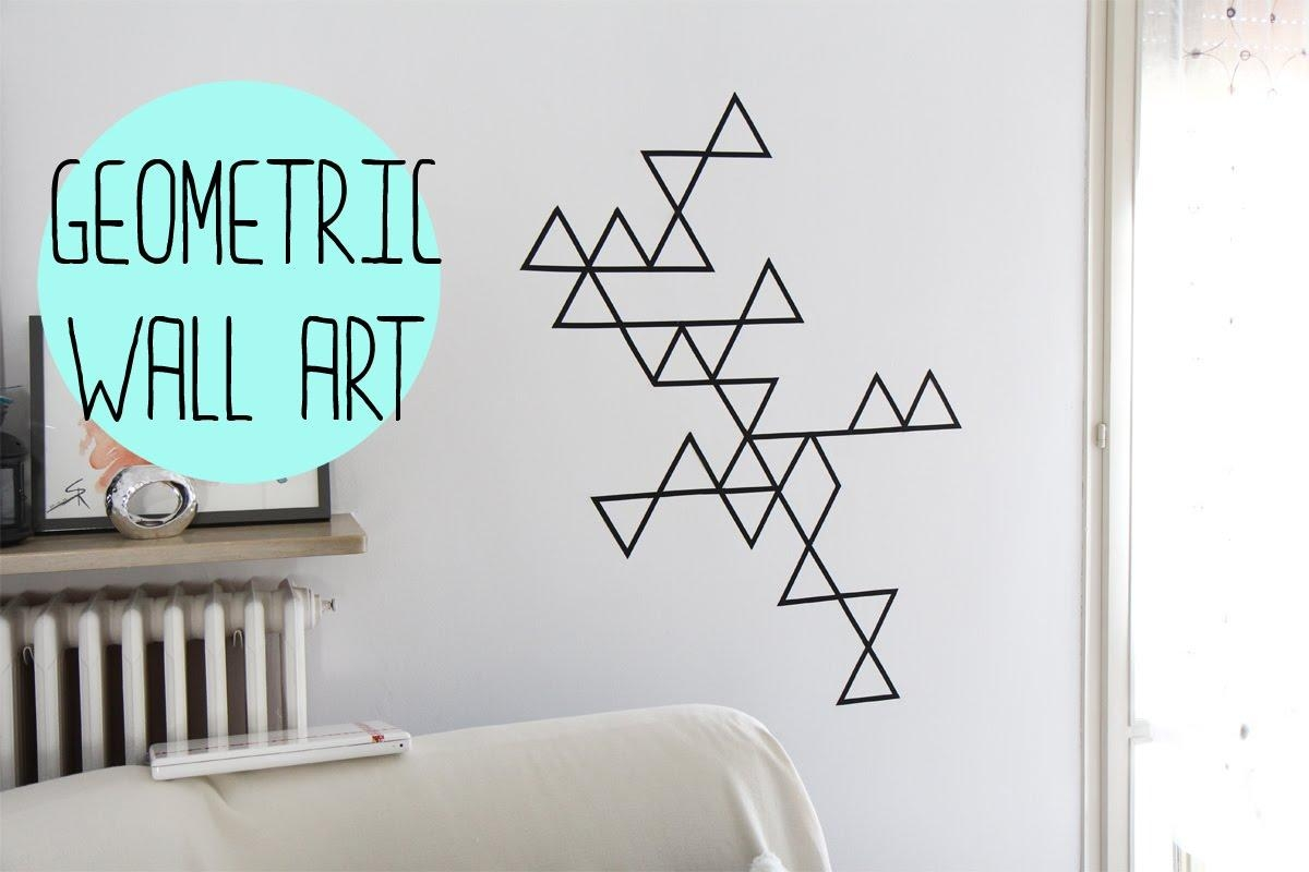 Diy:geometric Wall Art With Washi Tape – Decorazione Da Muro Con For Duct Tape Wall Art (View 7 of 20)