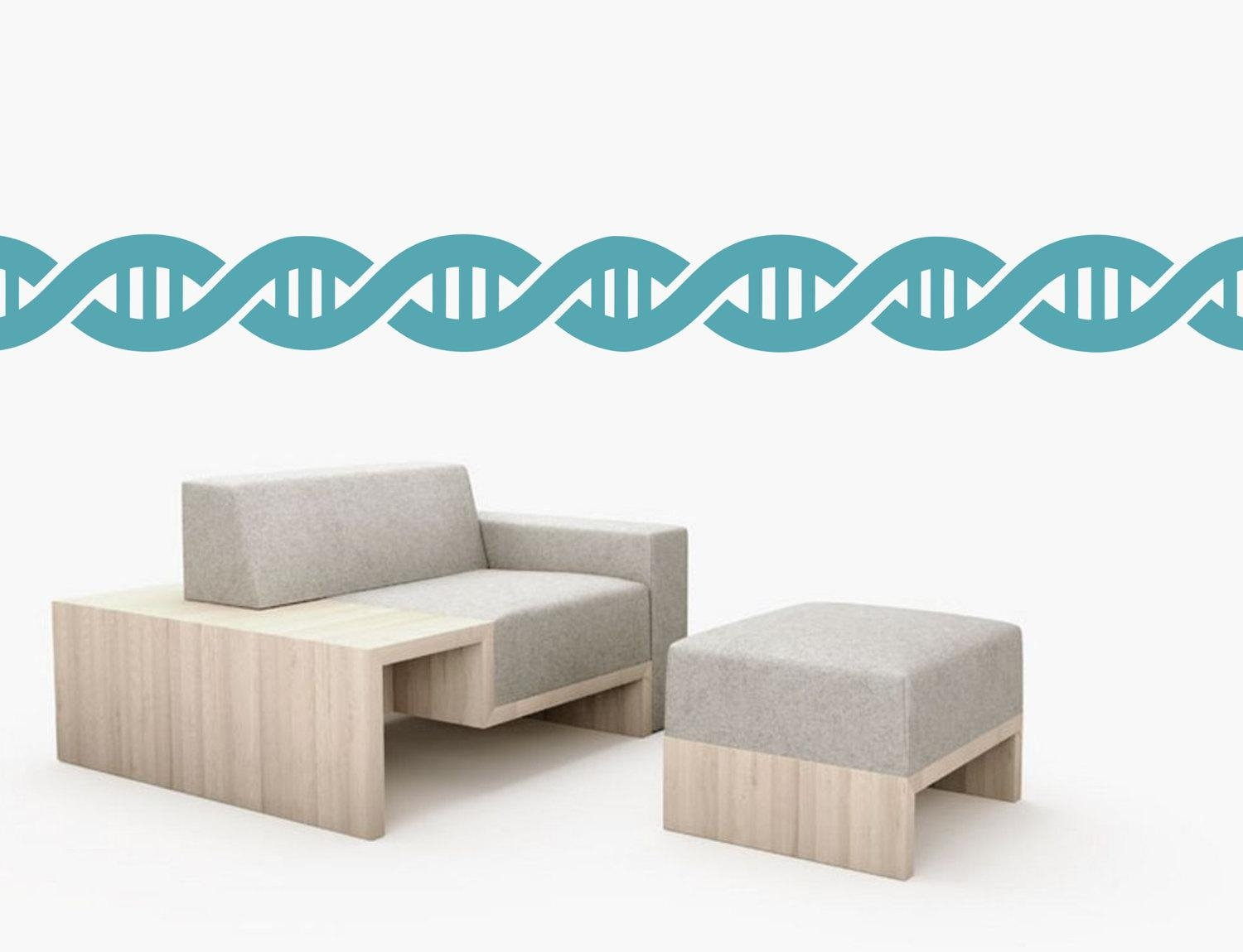 Dna Double Helix Stripes Wall Art Border Removable Vinyl In Dna Wall Art (View 12 of 20)