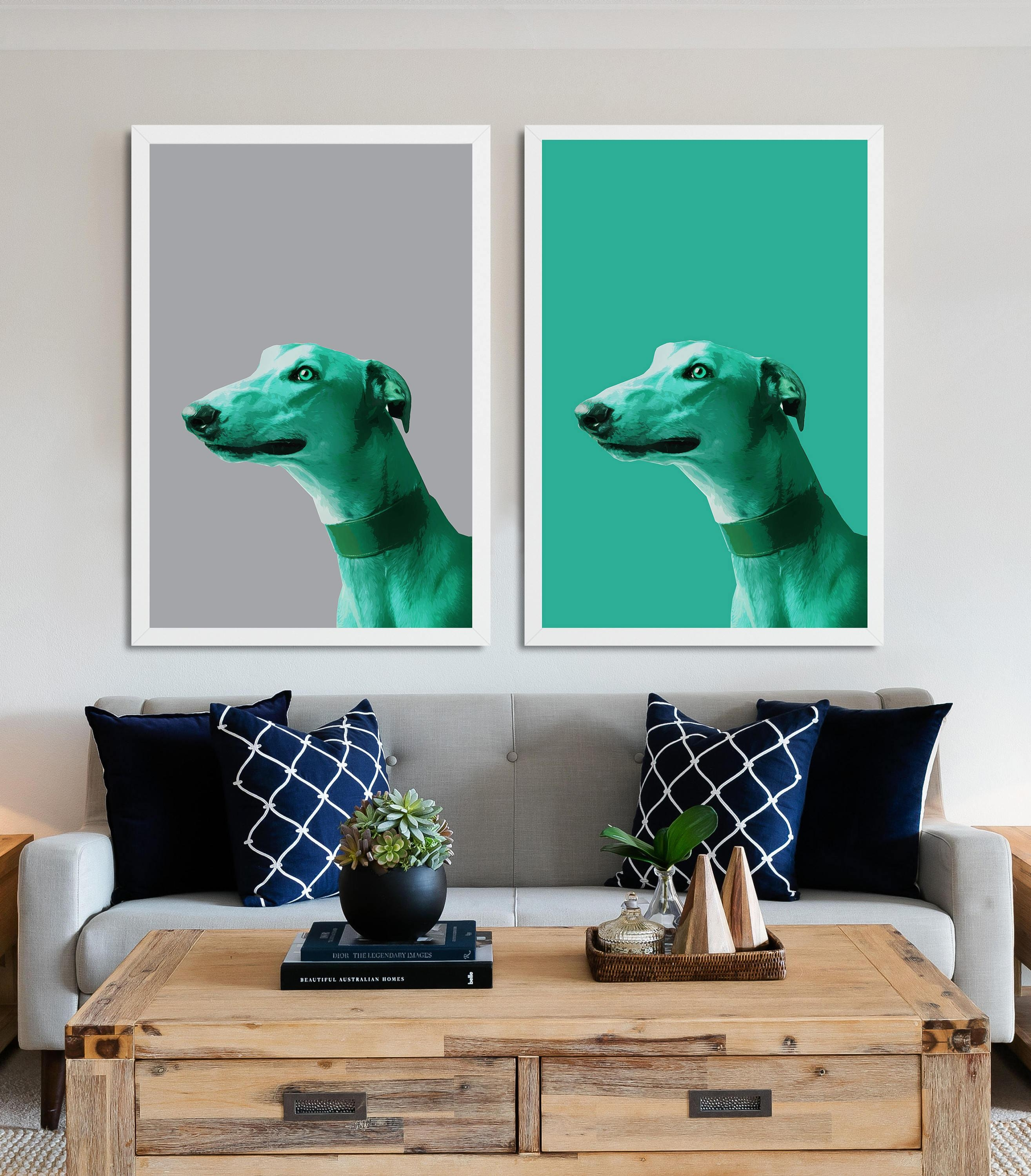 Dog Print Poster Dog Wall Art Painting Of Dog Greyhound In Italian Greyhound Wall Art (View 13 of 20)