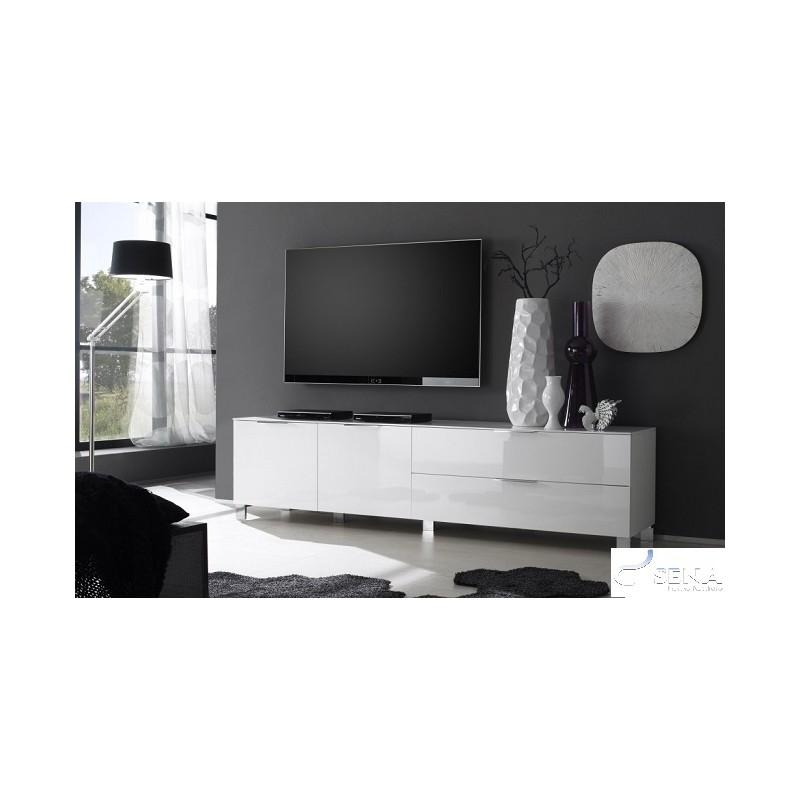 Dolcevita Ii Gloss Tv Stand – Tv Stands – Sena Home Furniture Regarding Current High Gloss White Tv Cabinets (Image 8 of 20)