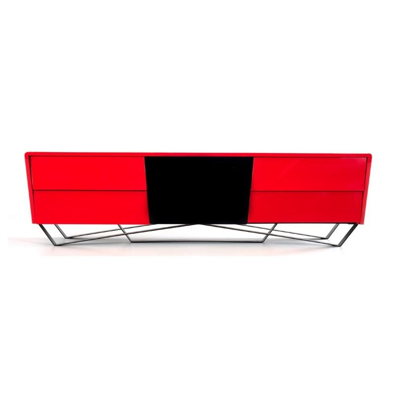 Domus Max Modern Red Tv Stand Regarding Most Recently Released Red Modern Tv Stands (Image 5 of 20)