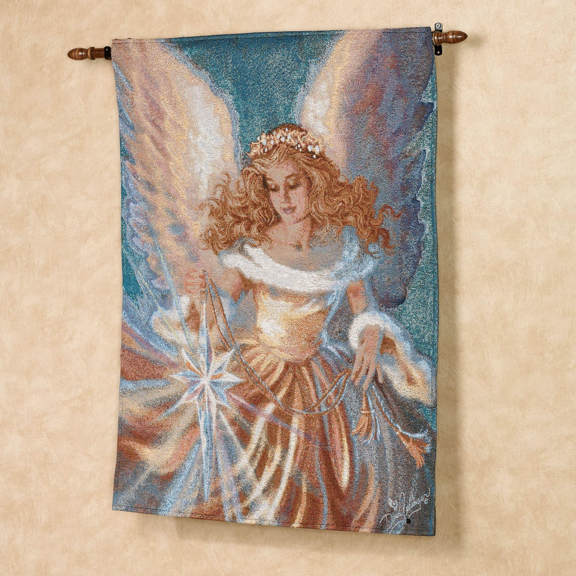 Dona Gelsinger The Light Of The World Fiber Optic Angel Wall Tapestry Throughout Fiber Optic Wall Art (View 7 of 20)