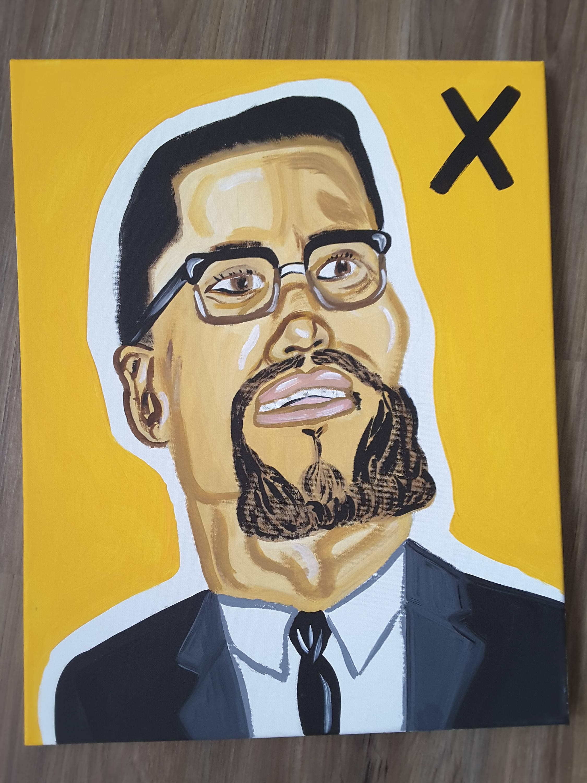 Dope Wall Canvas Malcolm X Hand Painted Canvas In Dope Wall Art (Image 17 of 20)
