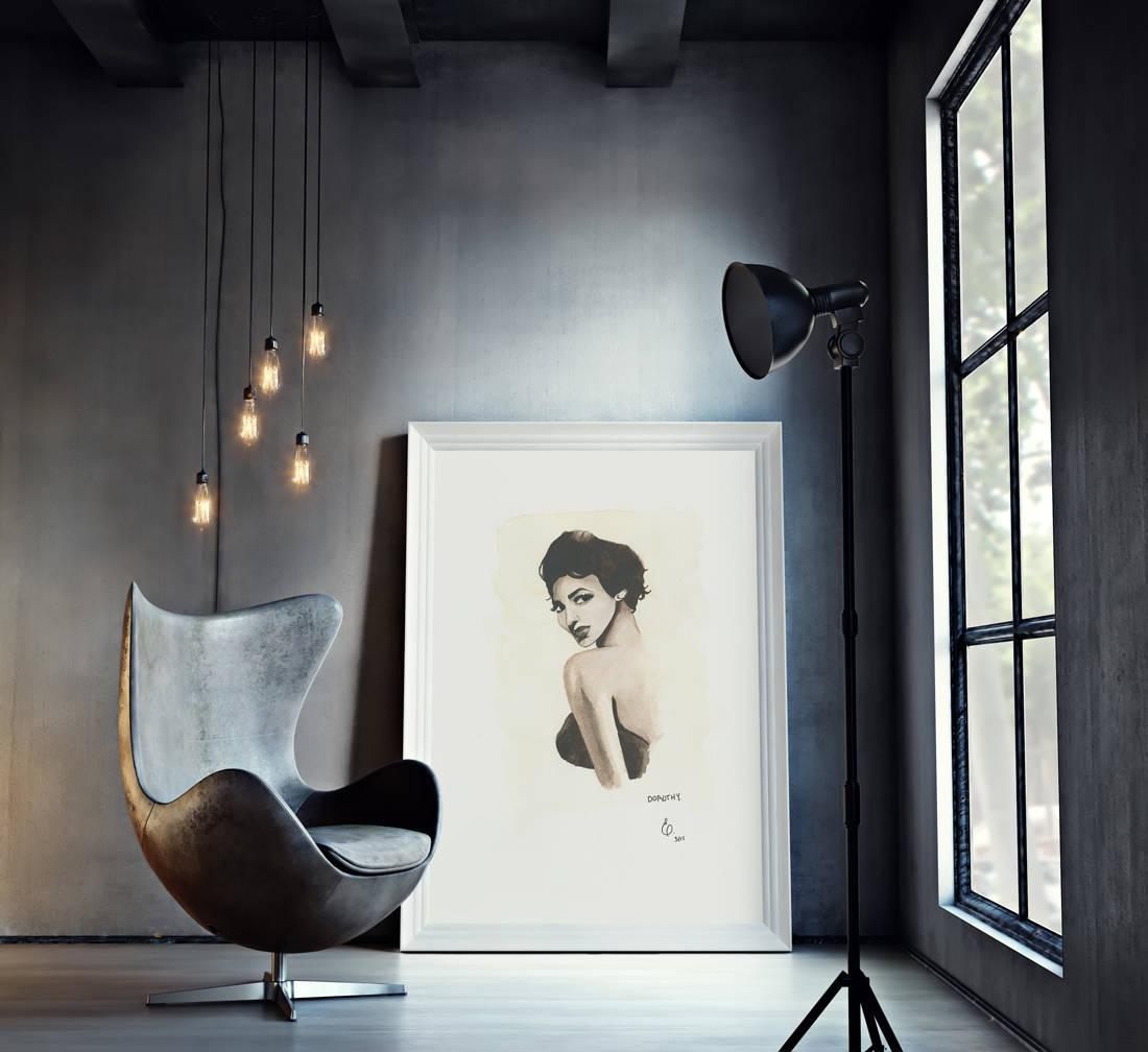 Dorothy Black Herstory Print African American Art Within Dorothy Dandridge Wall Art (View 9 of 20)