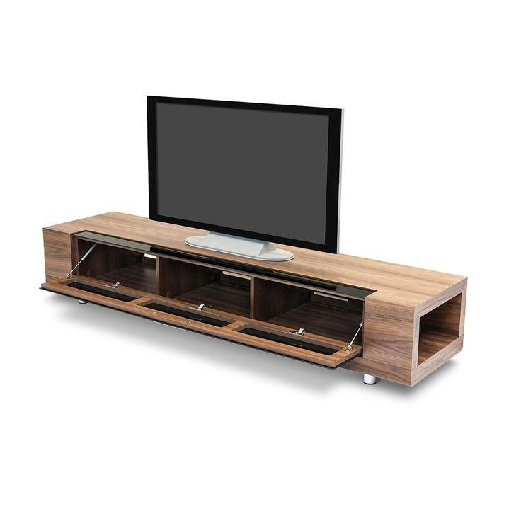 """Dot&bo – The Tube Modern Tv Stand 79"""" – Perforated Front Allows Pertaining To Recent Contemporary Wood Tv Stands (Image 11 of 20)"""