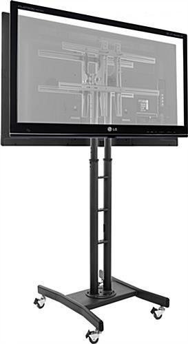 "Double Sided Tv Stand | (2) Adjustable Mounts For 32"" 65"" Screens With Regard To Newest Dual Tv Stands (Image 4 of 20)"