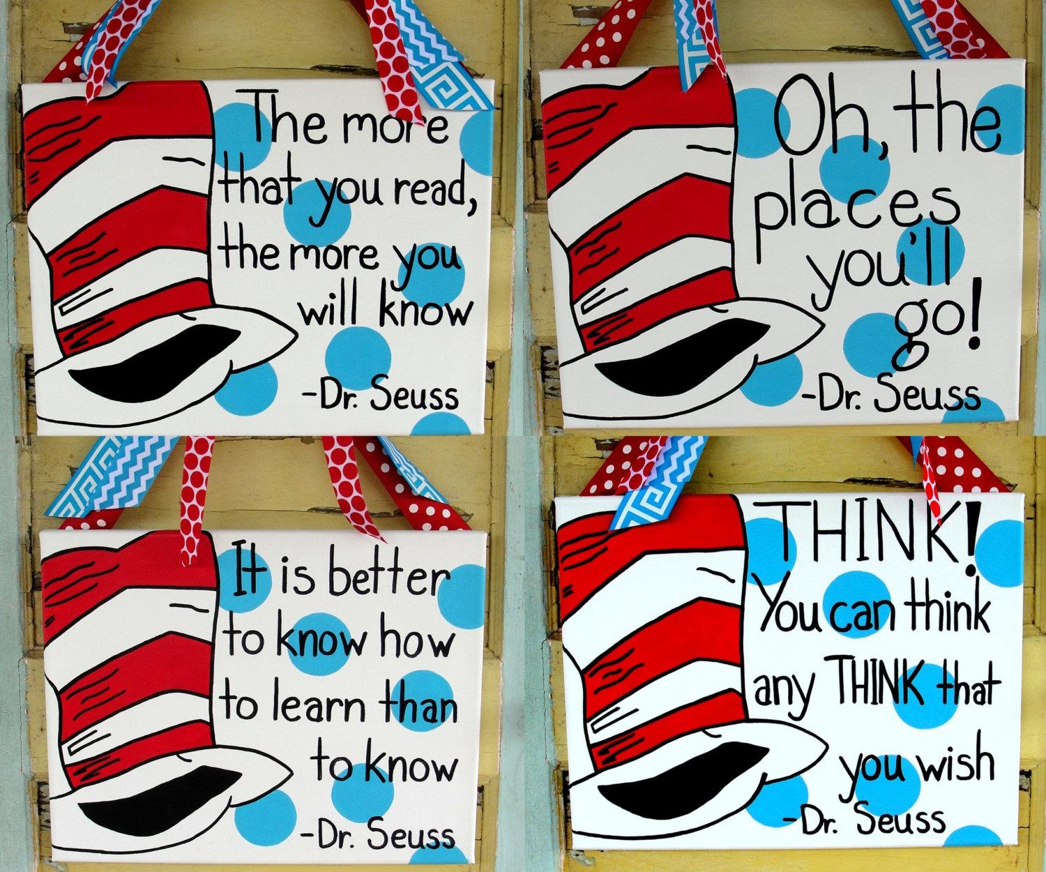 Dr Seuss Quote Canvas With Dr Seuss Canvas Wall Art (View 2 of 20)