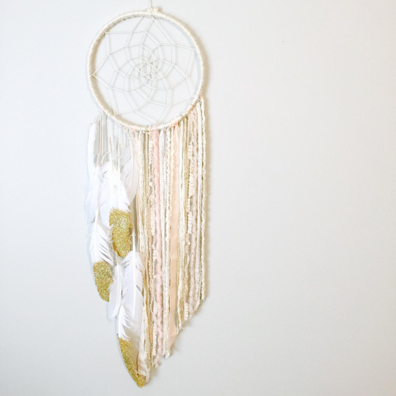 Dreamcatcher Unique Bohemian Dream Catcher Boho Chic In Boho Chic Wall Art (Image 10 of 20)