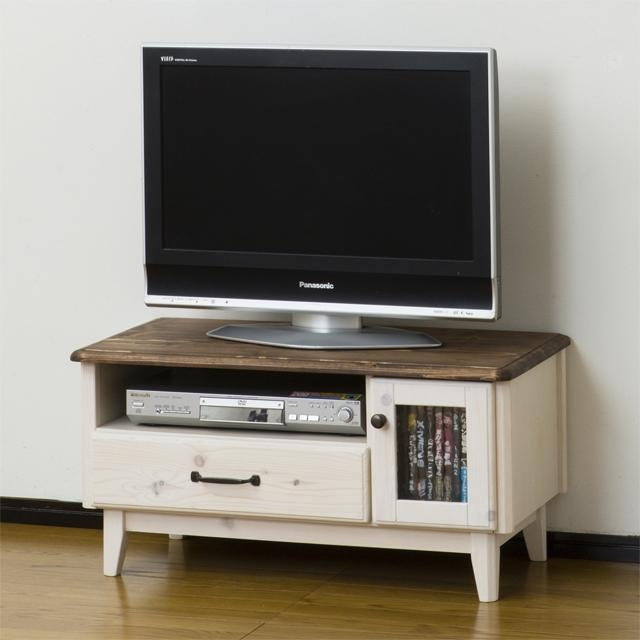 Dreamrand | Rakuten Global Market: Tv Stand Width 80 Cm Whitewash In Latest Country Style Tv Stands (View 10 of 20)