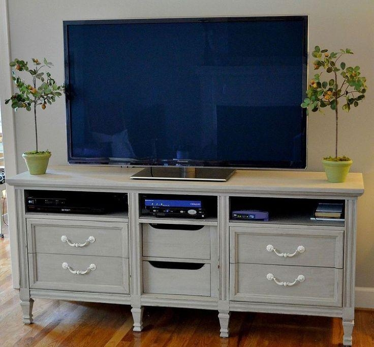 Dresser Turned Tv Stand Upcycle | Tv Stands, Dresser And Cycling Inside Most Current Dresser And Tv Stands Combination (View 16 of 20)