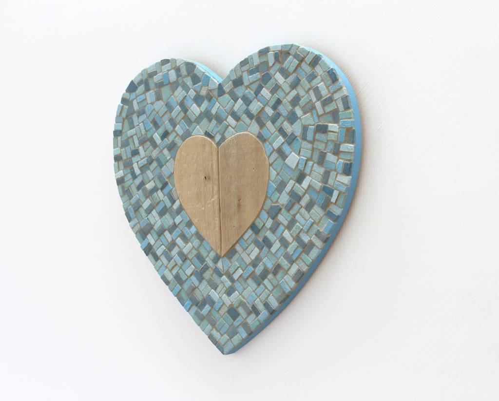 Driftwood Heart Mosaic Wall Artrana Cullimore With Regard To Driftwood Heart Wall Art (View 8 of 20)