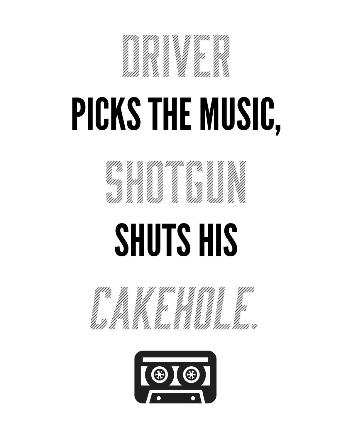 Driver Picks The Music Shotgun Shuts His Cakehole In Supernatural Wall Art (Image 11 of 20)