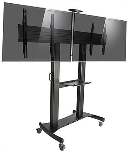 Dual Screen Tv Stand | Vesa Compliant With Most Recent Dual Tv Stands (Image 7 of 20)