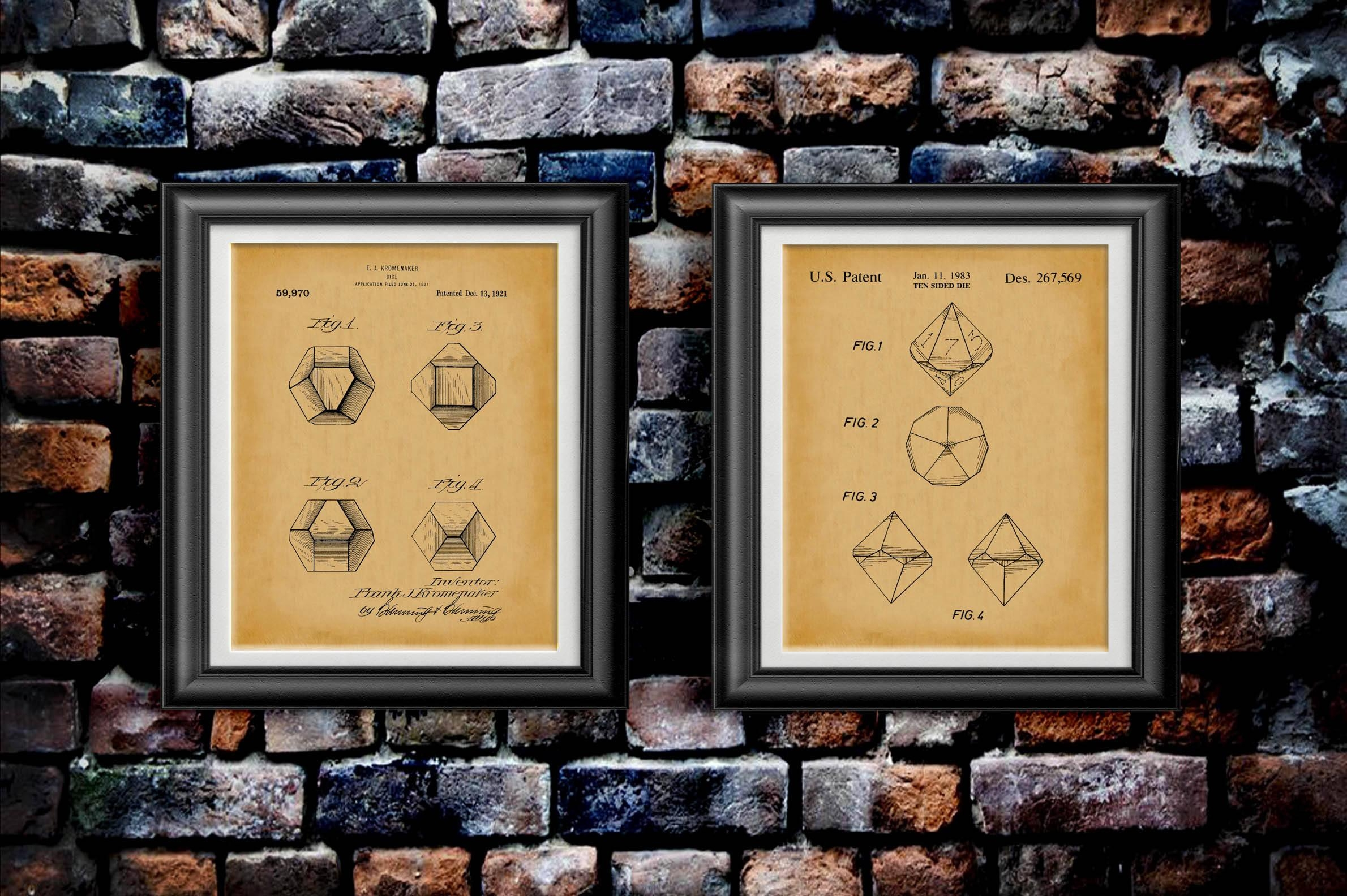 Dungeons And Dragons Dice Wall Art D&d Decor Dnd Artwork Rpg Pertaining To Midnight Italian Plates Wall Art (View 9 of 20)