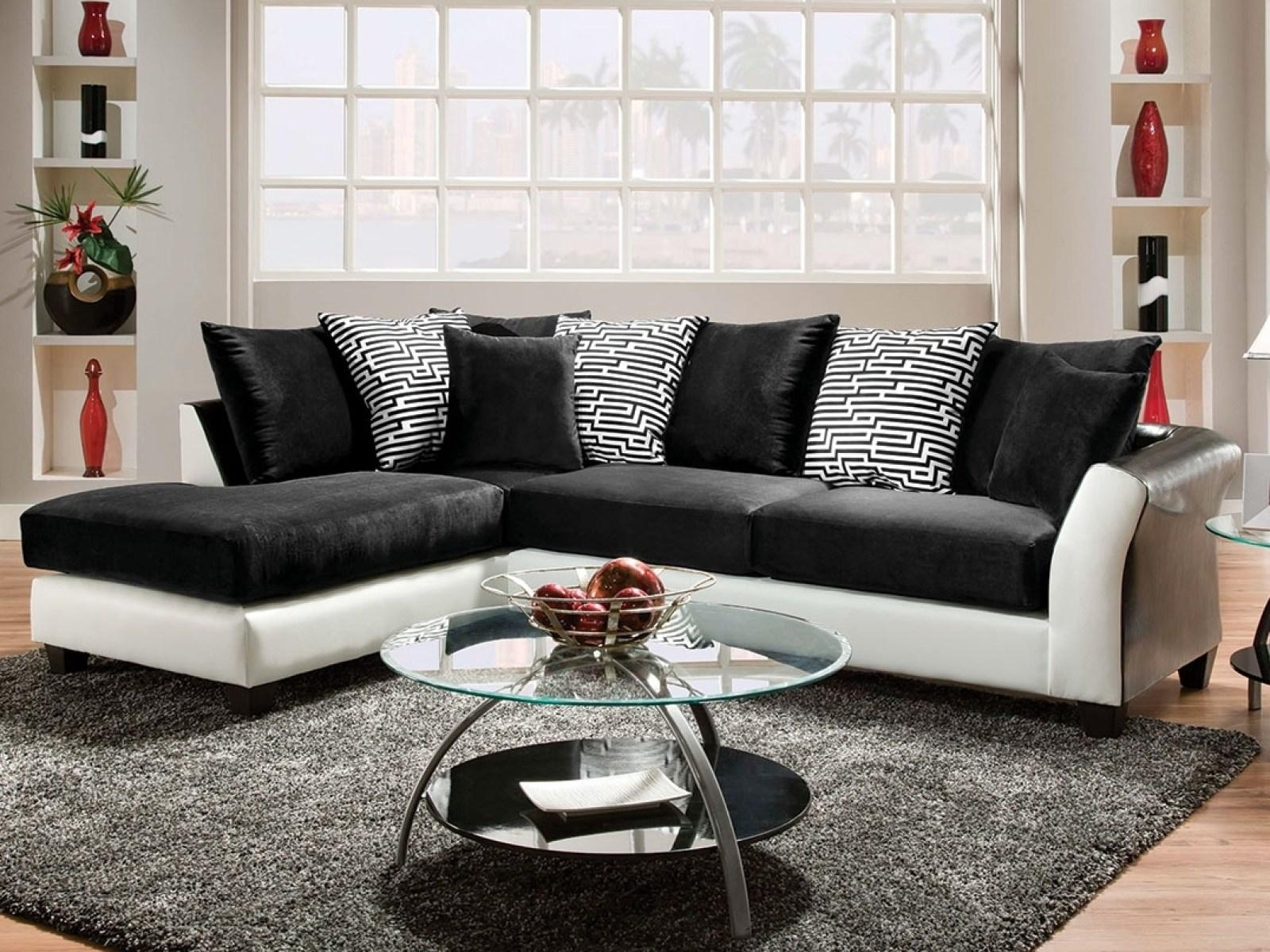 ▻ Sofa : 5 Wonderful Black Sofa Wonderful Black Sofa Living Room In White And Black Sofas (Image 1 of 21)