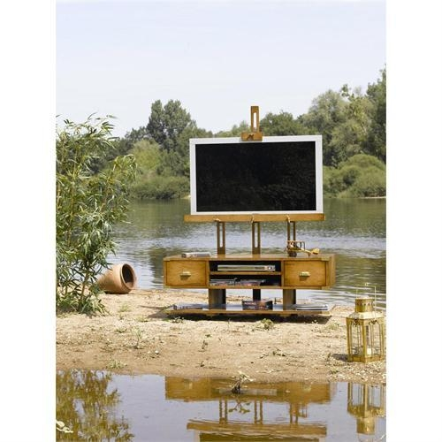 Easel For Plasma Tv From Elysee Collection Regarding Most Up To Date Easel Tv Stands For Flat Screens (Image 6 of 20)