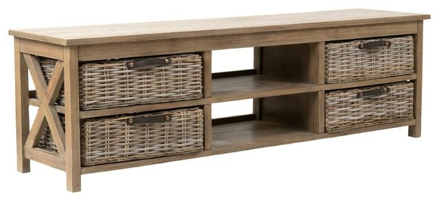 East At Main's Lovell Brown Rectangle Mahogany Tv Stand – Tropical With Recent Mahogany Tv Stands (View 18 of 20)