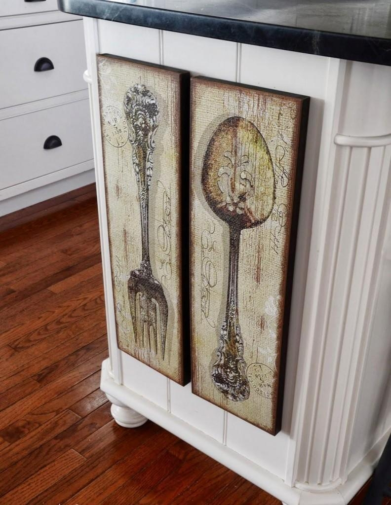 Easy Big Fork And Spoon Wall Decor Ideas — Decor Trends Regarding Large Spoon And Fork Wall Art (Image 3 of 20)