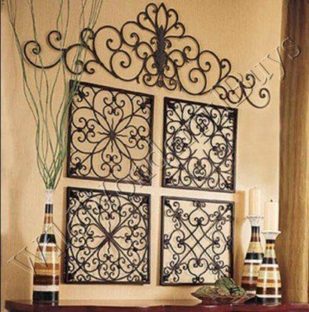 Easy Diy Iron Wall Art! | Iron Wall, Wrought Iron And Irons Extra Intended For Large Wrought Iron Wall Art (Image 9 of 20)