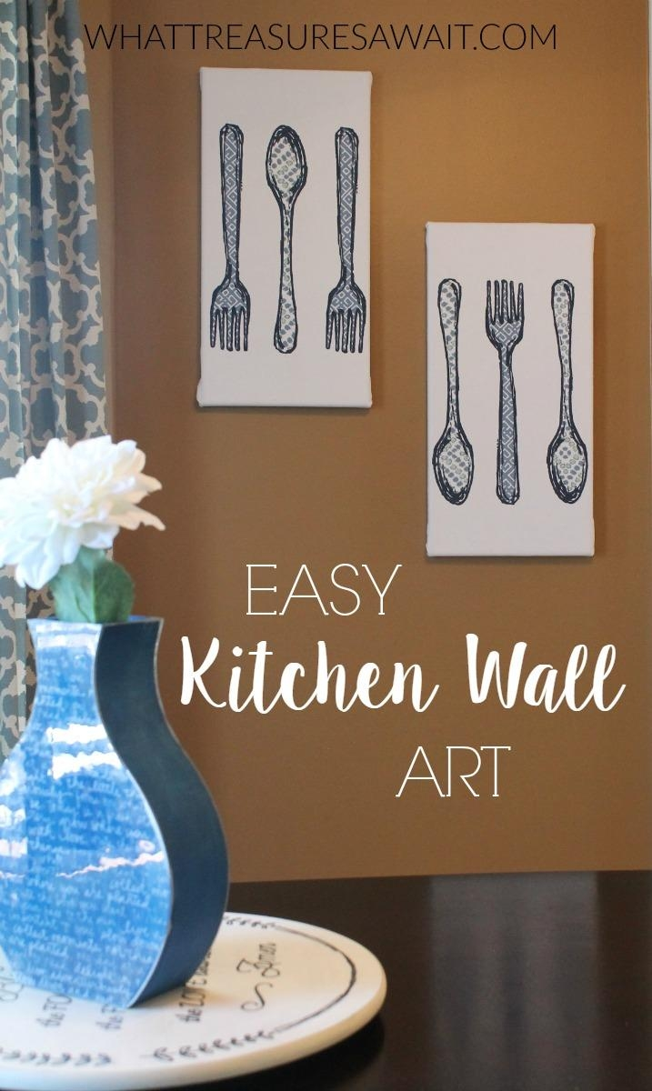 Easy Kitchen Wall Art From Hand Towels – What Treasures Await Pertaining To Wall Art For The Kitchen (Image 3 of 20)