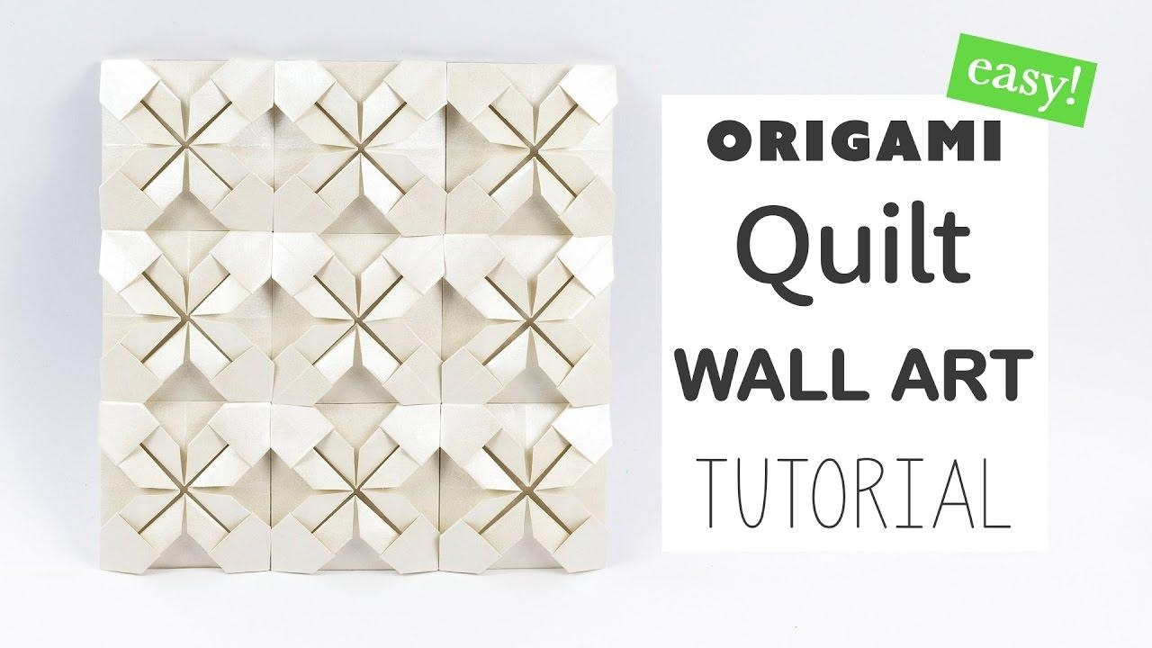 Easy Origami Quilt Wall Art Tutorial ☆ Diy ☆ Paper Kawaii – Youtube Regarding Diy Origami Wall Art (View 5 of 20)