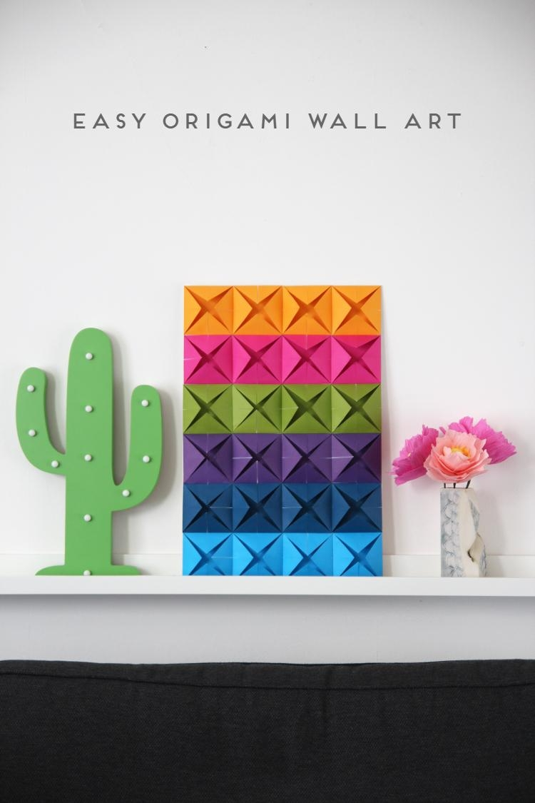 Easy Origami Wall Art (View 2 of 20)