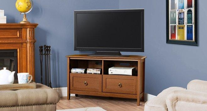 Editors' Picks: Small Space Tv Stands | Wayfair Within Best And Newest Tv Stands For Small Spaces (Image 8 of 20)