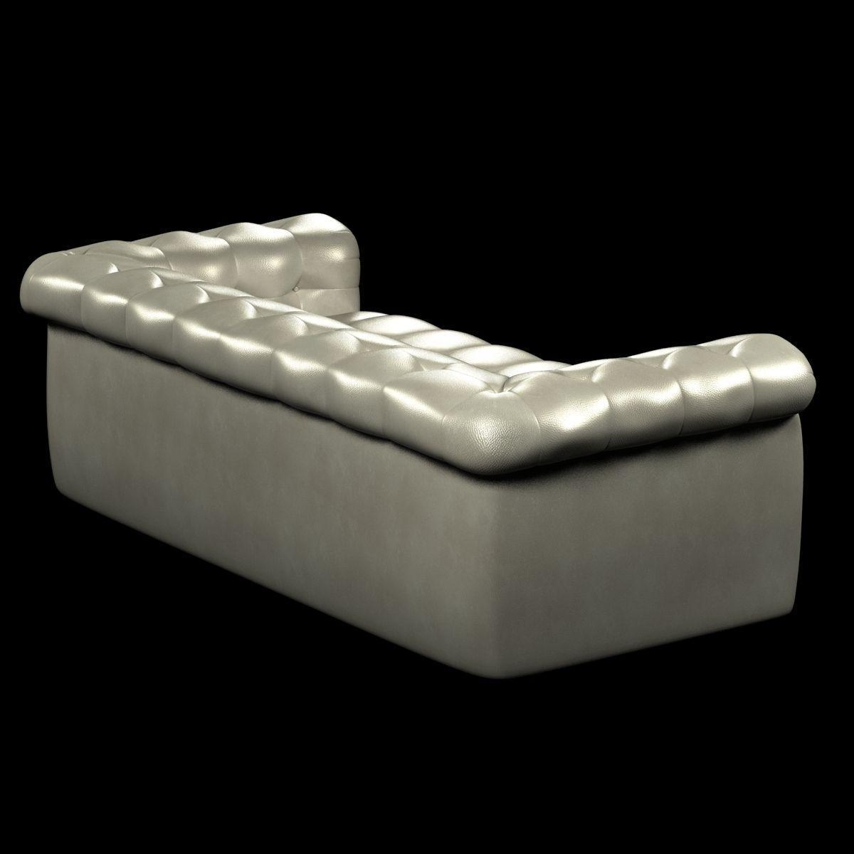 Edward Wormley Dunbar Six Foot Tufted Leather Sofa 3D Model Max In 6 Foot Sofas (View 19 of 22)