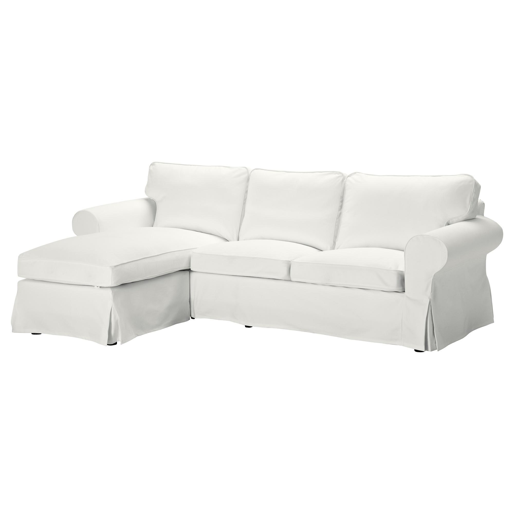Ektorp 3 Seat Sofa With Chaise Longue/blekinge White – Ikea For Ikea Chaise Lounge Sofa (View 7 of 20)