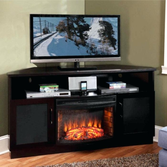 Electric Fireplaces Wall Mount Fireplace Pleasant Hearth Media For Most Recently Released Big Lots Tv Stands (Image 3 of 20)