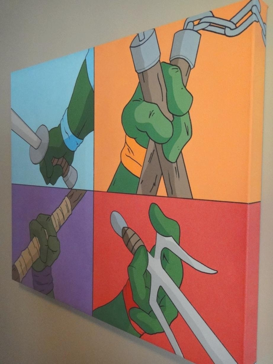Elegant Tmnt Wall Art 71 For Eric Carle Wall Art With Tmnt Wall Inside Tmnt Wall Art (View 4 of 20)