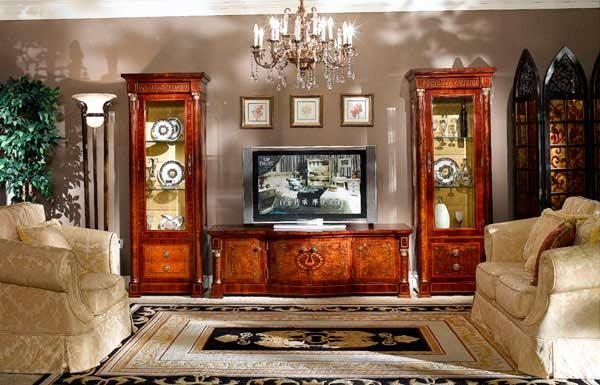 Ellada Gold Exclusive Entertainment Collection Tv Stand | Tv Stands With Regard To Newest Luxury Tv Stands (View 14 of 20)