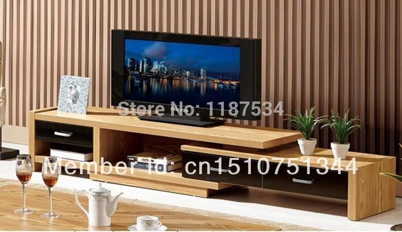 Elm Veneer Mdf Tv Stand Living Room Furniture Tv Bench Tv Cabinet Pertaining To 2017 Bench Tv Stands (Image 13 of 20)