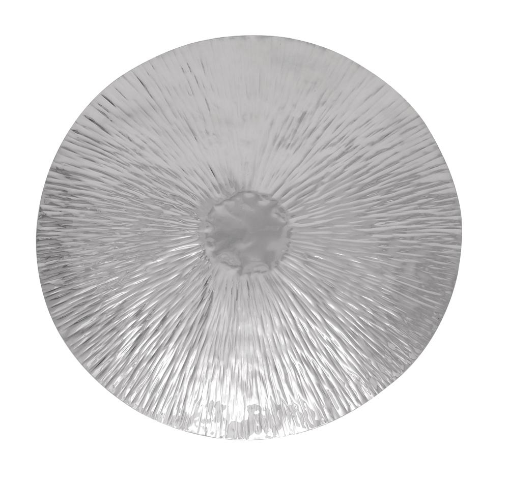 Emanating Disk Modern Metal Art For Decorative Metal Disc Wall Art (Image 7 of 18)