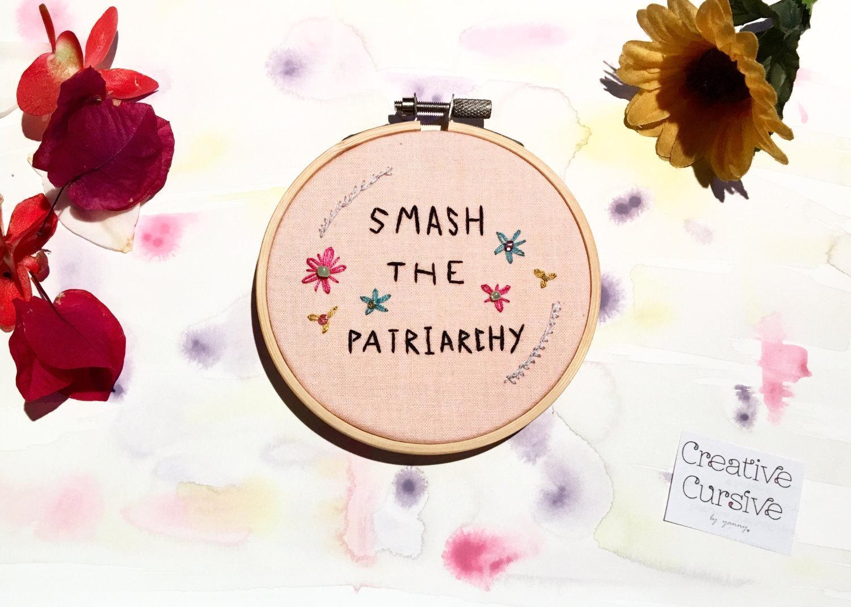 Embroidery Hoop Art Feminist Art Hand Embroidery Modern Inside Feminist Wall Art (View 16 of 20)