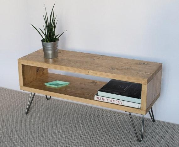 Emily Reclaimed Wood Tv Stand Tv Cabinet Hairpin Legs pertaining to Latest Hairpin Leg Tv Stands