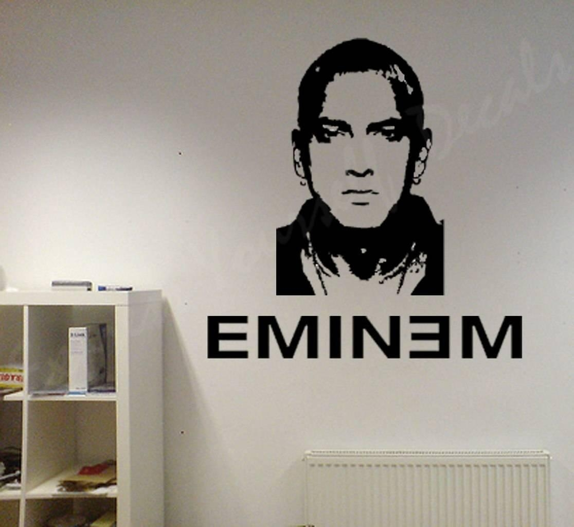 Eminem Wall Art Decal | Wall Decal | Wall Art Decal Sticker Intended For Eminem Wall Art (View 2 of 20)