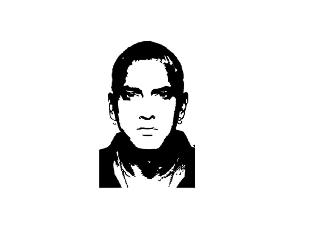 Eminem Wall Sticker – Sticker Creations In Eminem Wall Art (View 15 of 20)