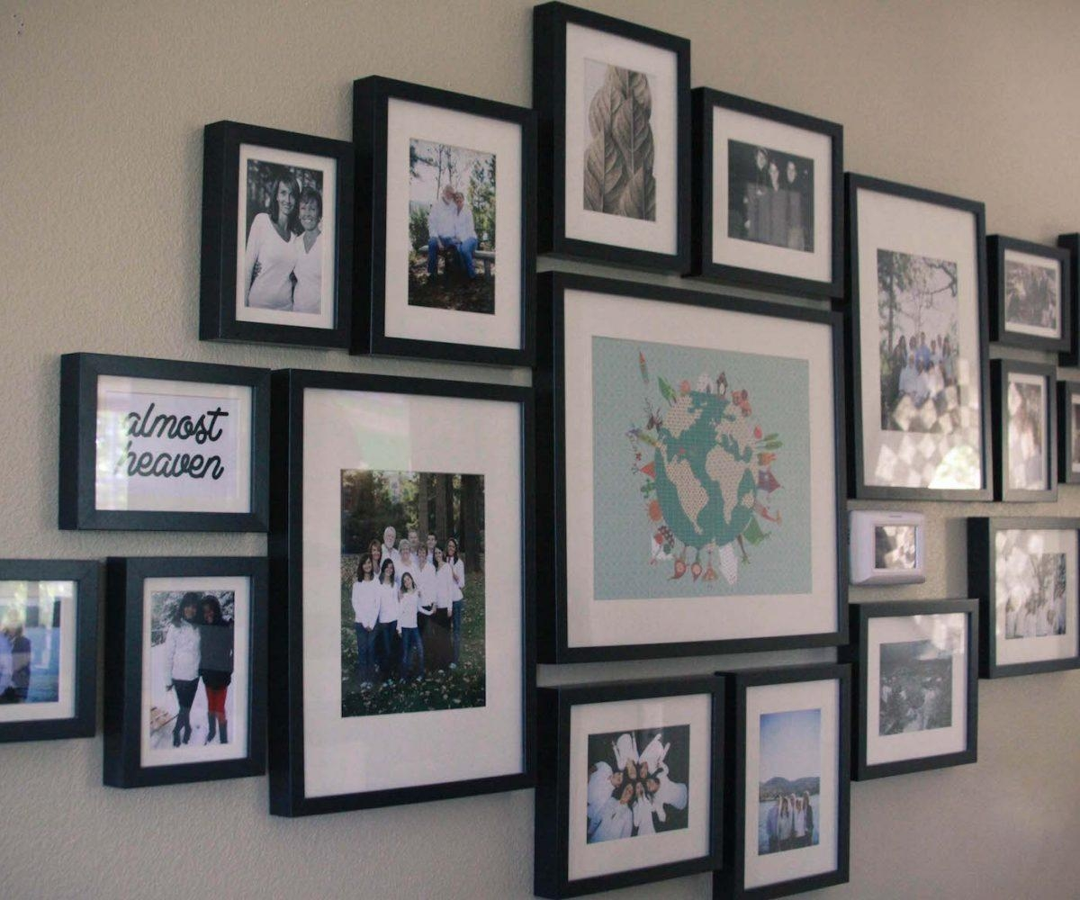 Enchanting Love Is Family Multi Aperture Triple Photo Frame Love Pertaining To Family Wall Art Picture Frames (Image 7 of 20)