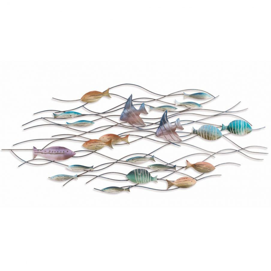 Enchanting Metal Fish Wall Art Nz Nautical Wall Decor Metal Wall Throughout Metal School Of Fish Wall Art (View 16 of 20)