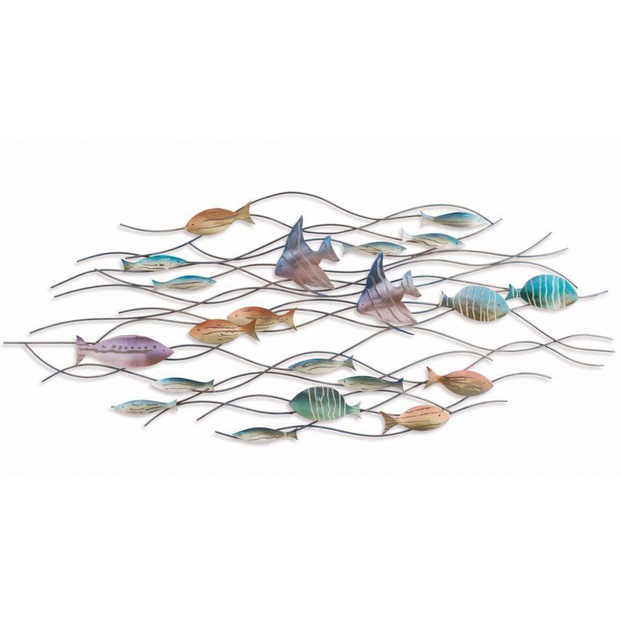 Enchanting Metal Fish Wall Art Nz Nautical Wall Decor Metal Wall Throughout Metal School Of Fish Wall Art (Image 4 of 20)