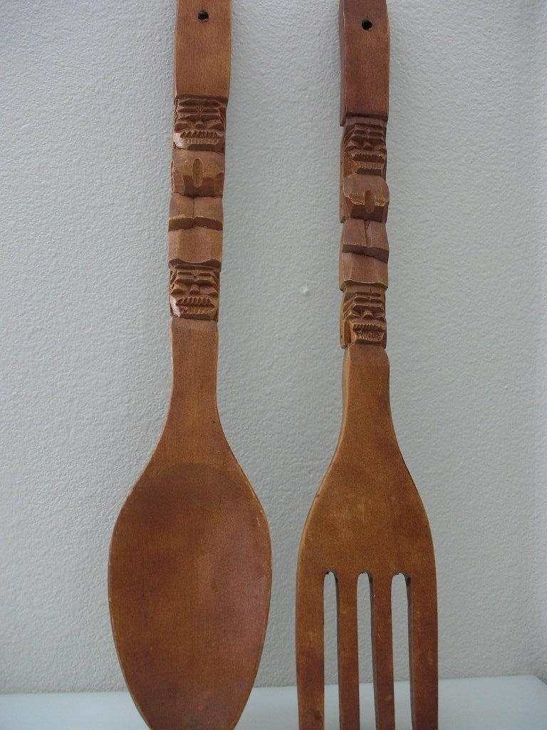 Enchanting Wooden Fork And Spoon Wall Decor 12 Wooden Fork And Regarding Wooden Fork And Spoon Wall Art (Image 7 of 20)