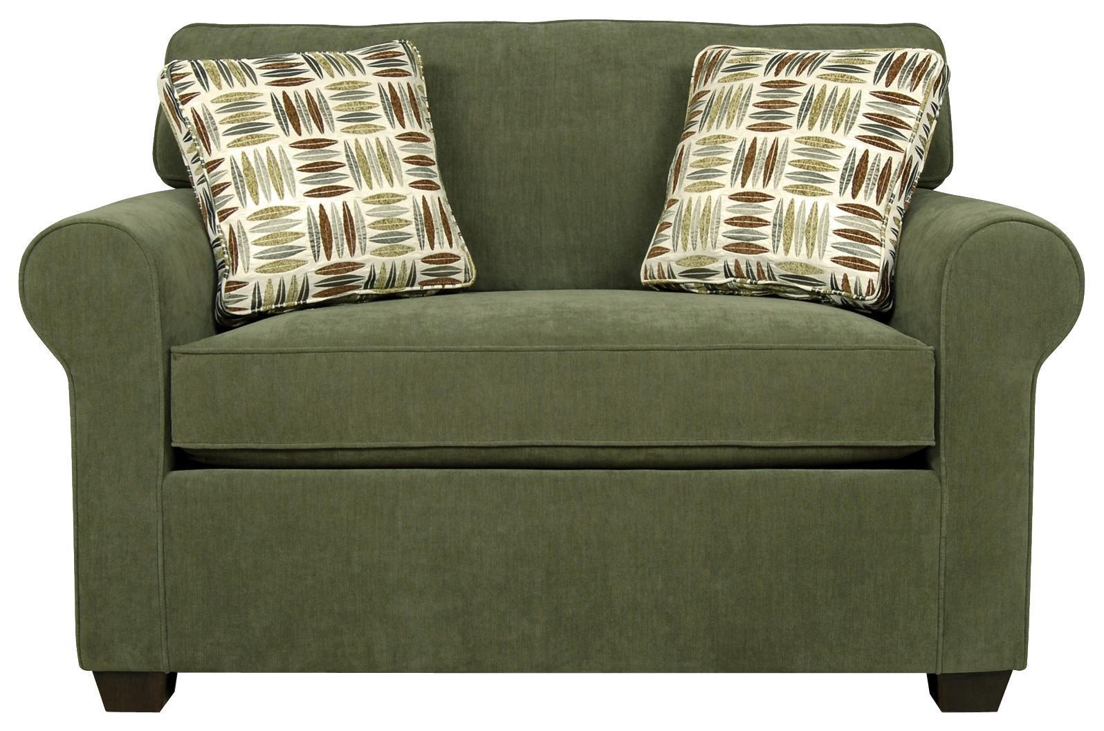 England Seabury Visco Mattress Twin Size Sleeper Sofa For Living Pertaining To Loveseat Twin Sleeper Sofas (Image 3 of 20)