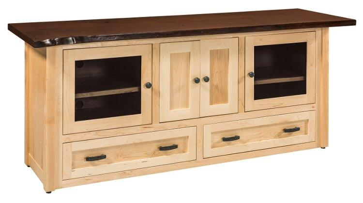 Entertainment Tv Stands, Stereo Cabinets – Portland – Oak For Latest Maple Wood Tv Stands (Image 7 of 20)