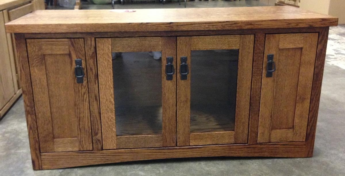 Entertainment Tv Stands, Stereo Cabinets – Portland – Oak With Regard To Most Recently Released Oak Tv Stands With Glass Doors (View 5 of 20)
