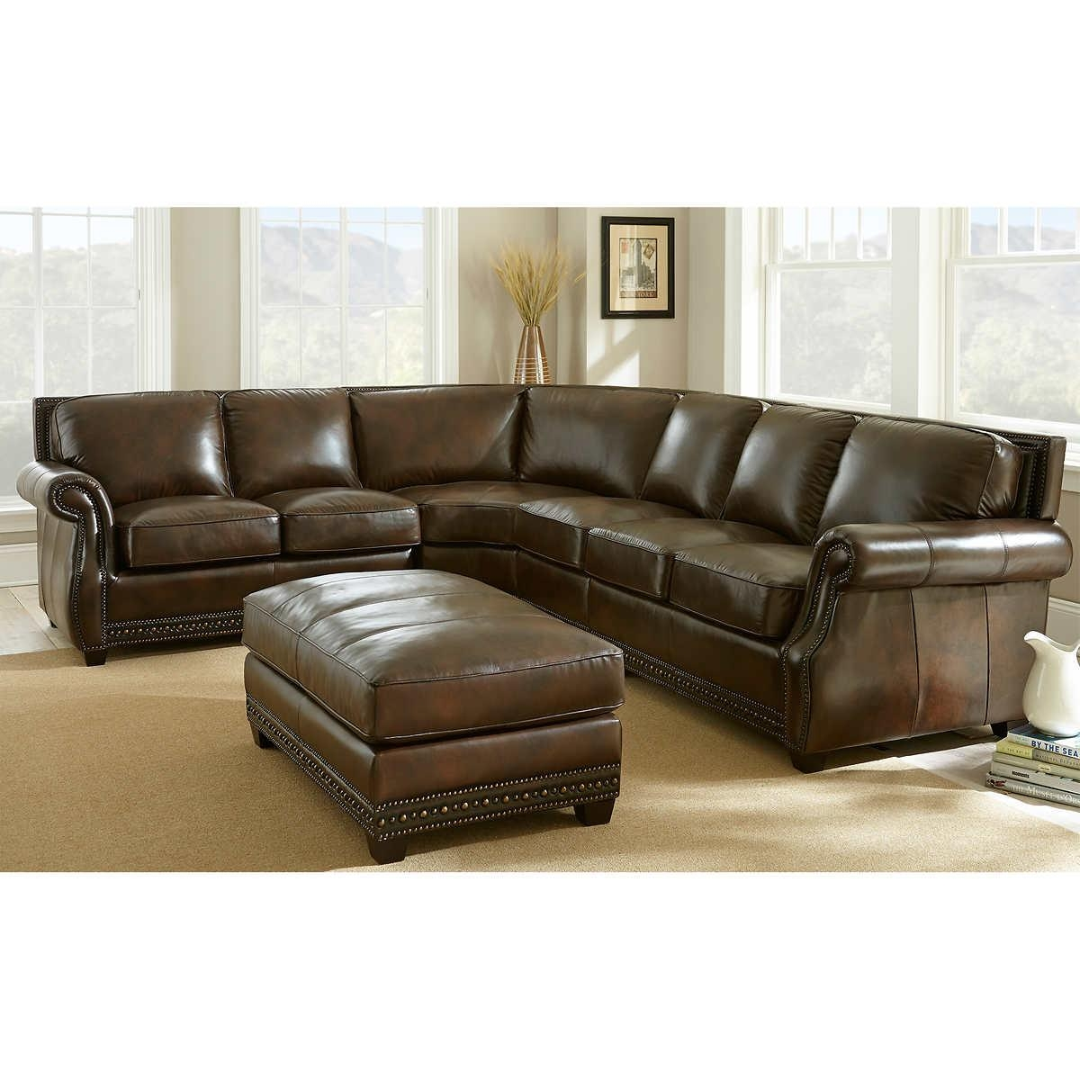 Epic Costco Leather Sectional Sofa 73 With Additional Vintage With Regard To Vintage Leather Sectional Sofas (Image 2 of 20)